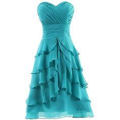 Dresstells Women's Sweetheart Knee-length Chiffon Short Bridesmaid Dress