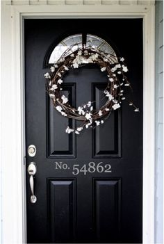 House Numbers Door Address Vinyl Decal Sticker. $8.00, via Etsy.
