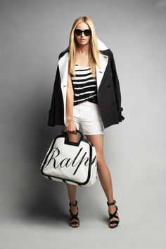 Pack for a warm-weather getaway with contrasting black and white pieces from Ralph Lauren Black Label Resort