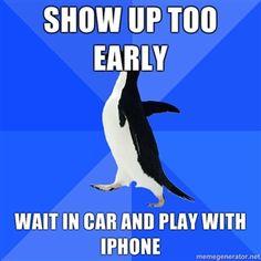 read socially awkward penguin.     relate.