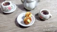 Pancake Earrings Food Charms Polymer clay food by AndisaCharmsShop
