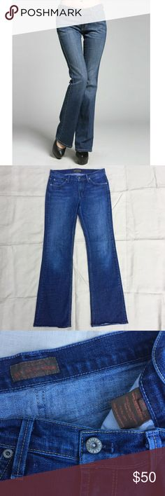 """James Jeans Dry Aged Denim Hector Rogue 30 James Jeans -- Hector fit; Rogue wash; size 30; waist - 15.5""""; inseam - 33"""" James Jeans Jeans Boot Cut"""
