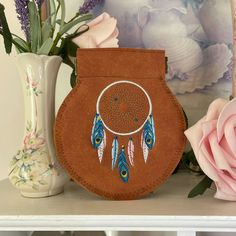 Follow Your Dreams Dreamcatcher Coin Purse £6.00 Handmade Bags, Handmade Items, Gifts For Friends, Gifts For Her, Baby Mittens, Native American Women, Wet Felting, Beautiful Gifts, Little Gifts
