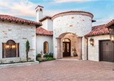 Front Elevation Horseshoe Bay Texas Tuscan Villa by Zbranek and Holt Custom Homes, Horseshoe Bay Custom Home Builders