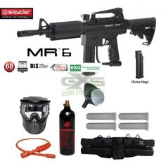 SPYDER MR6 KIT DE PAINTBALL EN OFERTA SOLO POR HOY... APROVECHA Y NO TE QUEDES SIN EL TUYO!!   http://tienda.globalxtremesports.com/es/tienda-paintball/58-combo-spyder-mr6-w-dls-spare-fs-9-round-magazine-hpa-paintball-gun-package-black.html?search_query=mr6&results=2