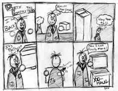 Shameless plug!  Check out the new webcomic series, Dirty Larry The Hobo by The Norris Brothers.