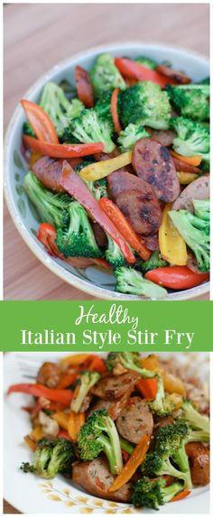 This Italian Style Stir Fry comes together so quick and easy - it's perfect for weeknight's when you are trying to eat healthy and get dinner on the table! via @aggieskitchen