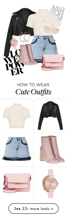 """""""Cute little outfit xoxo"""" by lola445 on Polyvore featuring Olivia Burton, Staud, Marc Jacobs, Marni, Laurence Dacade, Christian Dior and Gucci"""