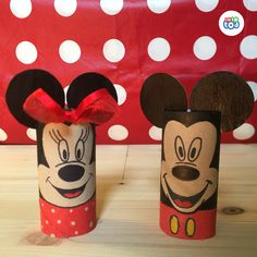 All you need for the cutest Disney couple are two toilet paper rolls and some leftover gift ribbon!