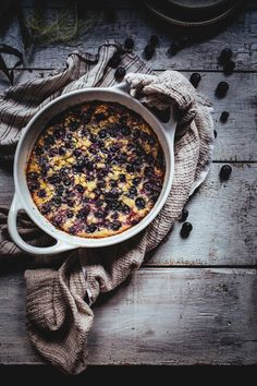 Blueberry & Sweet Corn Flaugnarde