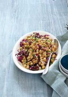 Try these hearty, zesty chickpeas for an easy mid-week meal.