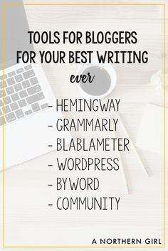 looking for ways to improve your writing? here are my favorite tools!