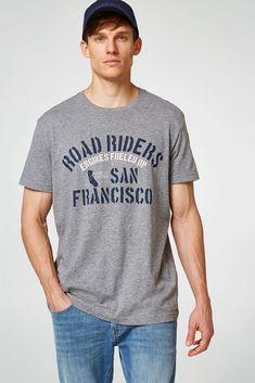 dd3755c052 Remeras hombres · Esprit - Camiseta estampada en jersey jaspeado
