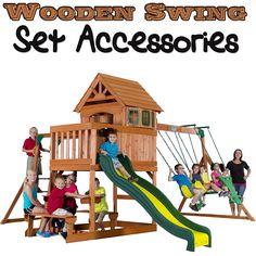 34 Best Wooden Swing Set Accessories Images Swing Set Accessories