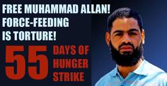 55 days of hunger strike: Allan shackled to hospital bed, threatened with force-feeding