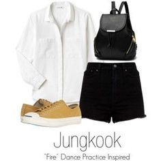 """Jungkook's """"Fire"""" Dance Practice Inspired Outfit"""
