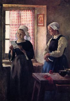 gari melchers(1860-1932), the letter, 1882. oil on canvas, 94.62 x 66.99 cm. corcoran gallery of art, usa http://www.the-athenaeum.org/art/detail.php?ID=128087