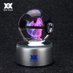 Cheap led gift, Buy Quality children led directly from China led children Suppliers: Mega Charizard X Crystal Ball Pokemon Glass Ball LED Colorful Rotation Base Creative Child's Birthday / Christmas Gift