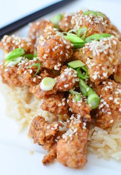 General Tso's Cauliflower -- There's not much I can say about this except how DELICIOUS it is. Mildly time consuming, but well worth it.