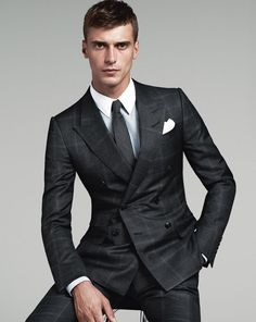 Clément Chabernaud Models Suits for Gucci Fall 2014 Tailoring image Clement Chabernaud Gucci 001