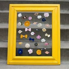 Make a jewelry holder from an old frame