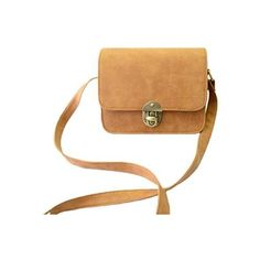 New Vintage Women PU Bag Twist Lock Flap Casual Shoulder Crossbody Bag ($5.03) ❤ liked on Polyvore featuring bags, handbags and shoulder bags