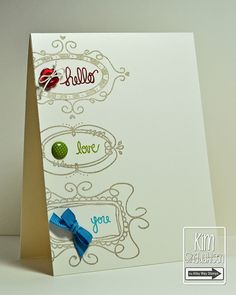 Hello, Love You by atsamom, via Flickr. Stamps by The Alley Way Stamps.