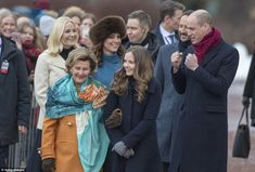 The Duke of Cambridge appeared to be in a playful mood as he walked around the palace grou...