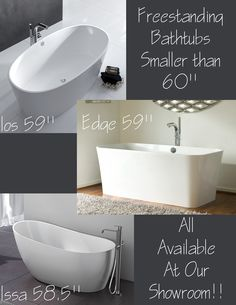 Do You Love The Look Of A Freestanding Tub, And Donu0027t Think You Have The  Space To Fit One? At Concept Ku0026B We Have Three Small Scale Freestanding  Tubs On Our ...
