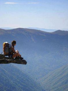Admiring nature on the edge