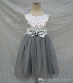 Find More Flower Girl Dresses Information about 2016 Tulle Sequined Flower Girl Dresses Tea Length Party Pageant Communion Dress Bow Little Girl Kids/Children Dress for Wedding,High Quality dress crystal,China dress luxury Suppliers, Cheap dress for red carpet from Galaxy Wedding Dress Co., Ltd. on Aliexpress.com