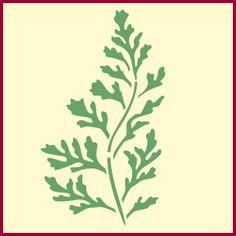 Fern 2 stencil, fern border stencil, plant and fern stencils, fern stencil