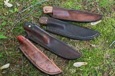 Lucas forge Knives in Sheaths