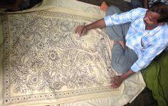 Preserving the historic tradition of kalamkari textile art, Andhra Pradesh artisans hand-paint vegetable dyes to create this exquisite design. Kalamkari Tree of Life
