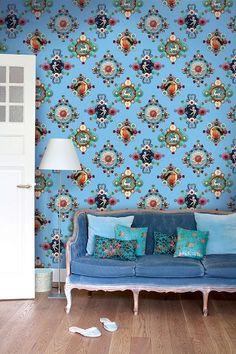 PiP Ruby Robin Blue wallpaper | Wallpower | Wallpaper | PiP Studio