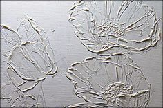 How to Add Texture on Canvas - use equal parts of Acrylic Heavy Gel & Acrylic Modeling Paste