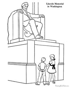 C3Wk11 - Lincoln Memorial coloring pages