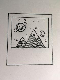 Easy Doodles Drawings, Space Drawings, Easy Doodle Art, Doodle Art Drawing, Girl Drawing Sketches, Cute Easy Drawings, Mini Drawings, Art Drawings Sketches Simple, Pencil Art Drawings