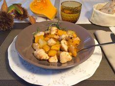 Innamorarsi in cucina: Petto di pollo con zucca, mela e patate.