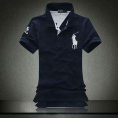ralph lauren Men big pony short polo shirt in black