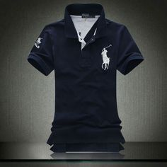 Ralph Lauren Mens Navy Big Pony Polo White