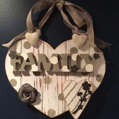 rustic family sign, family love sign, boho familyart, rustic wall decor, family sign, family gift, gift for family, I love my family, family by Bedotted on Etsy