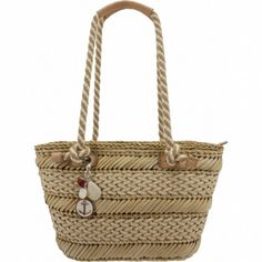 Cape Straw Tote: Braided handles adds polish to this nautical inspired bag @Brighton