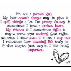 I'm not perfect! :-)