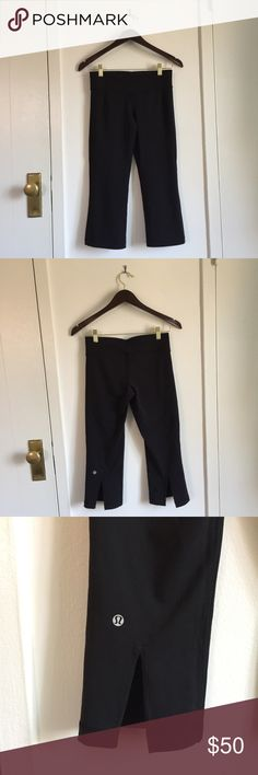 Lululemon Flare Cropped Winder Under Worn only once or twice. Perfect condition lululemon athletica Pants Leggings