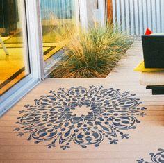 Increíble plantilla de Mandala-estilo para por StencilsLabNY