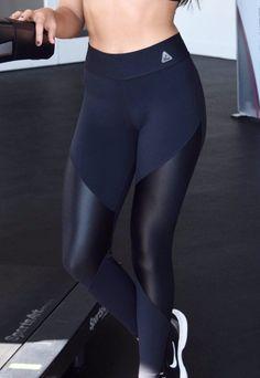 1feabddbf49cff Black yoga leggings pants shine fabric tummy tuck. Brazilian workout wear  stylish yoga gear,