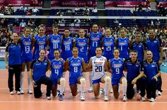 l'équipe italienne féminine de volley ball