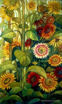 sunflowers by elisabetta trevisan