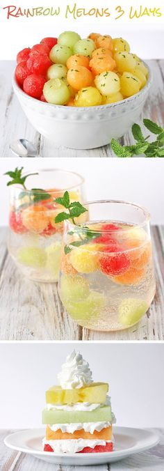 I especially like the idea of freezing melon balls to use in water or club soda! Enjoy summer's favorite juicy fruit three delicious ways! Super Healthy Recipes, Healthy Foods To Eat, Healthy Drinks, Healthy Snacks, Eating Healthy, Healthy Living, Fruit Recipes, Smoothie Recipes, Cooking Recipes